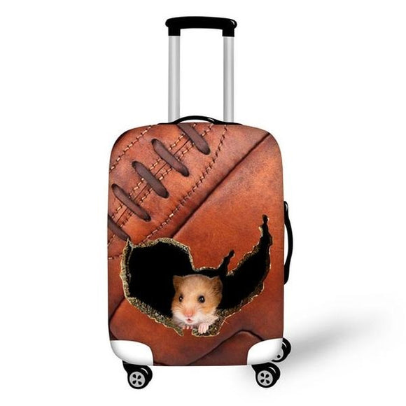 Mouse Ripping Football | Premium Design | Luggage Suitcase Protective Cover - Small - Luggage Cover Encompass RL