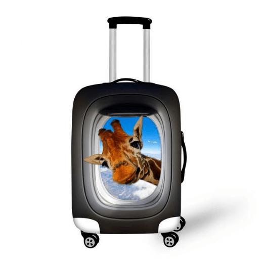 Peeking Giraffe 2 | Premium Design | Luggage Suitcase Protective Cover - Small - Luggage Cover Encompass RL
