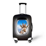 Peeking Giraffe 1 | Premium Design | Luggage Suitcase Protective Cover - Small - Luggage Cover Encompass RL