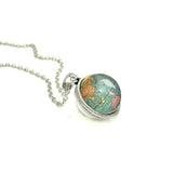 Globe Map Double Sided Necklace - - Wanderlust Gifts Encompass RL