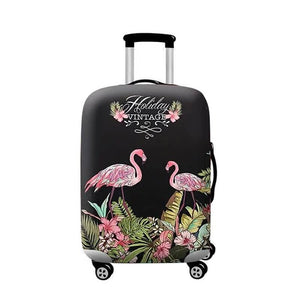 Holiday Vintage Flamingo | Standard Design | Luggage Suitcase Protective Cover - Small - Luggage Cover Encompass RL