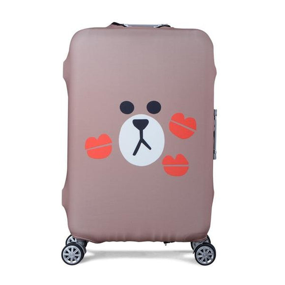Line Friends Brown Bear | Standard Design | Luggage Suitcase Protective Cover - Small - Luggage Cover Encompass RL