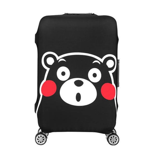Kumamon Black Bear | Standard Design | Luggage Suitcase Protective Cover - Small - Luggage Cover Encompass RL
