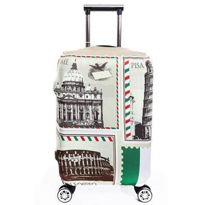 Landmark Postage Stamp | Standard Design | Luggage Suitcase Protective Cover - Small - Luggage Cover Encompass RL
