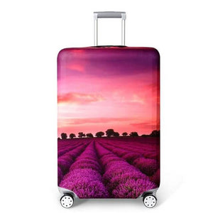 Lavender Fields | Standard Design | Luggage Suitcase Protective Cover - Small - Luggage Cover Encompass RL