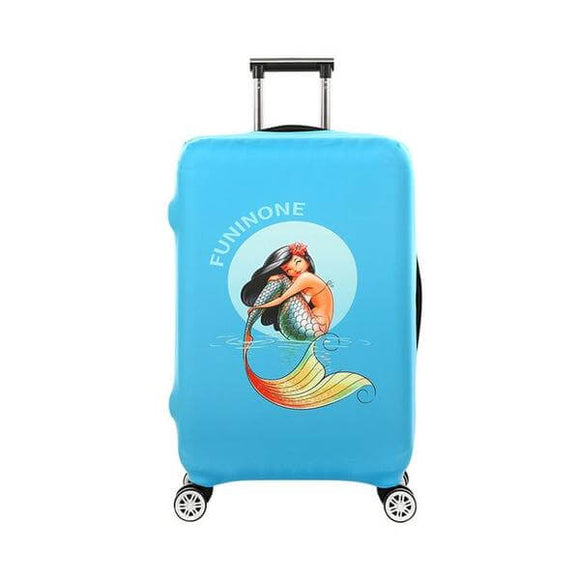 Smiling Mermaid | Standard Design | Luggage Suitcase Protective Cover - Small - Luggage Cover Encompass RL