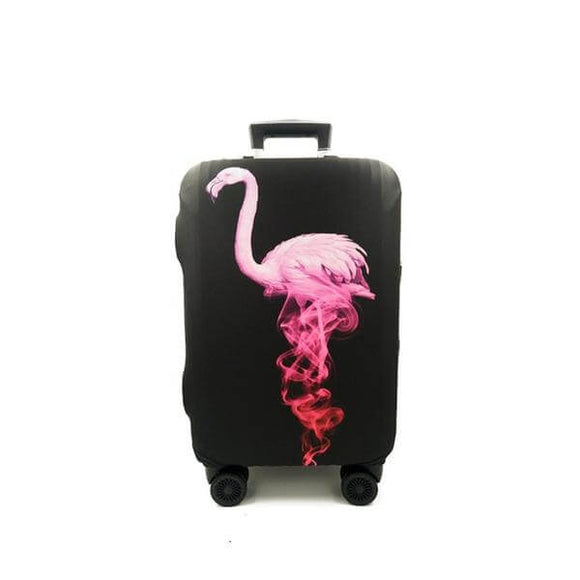 Black Pink Flamingo | Standard Design | Luggage Suitcase Protective Cover - Small - Luggage Cover Encompass RL