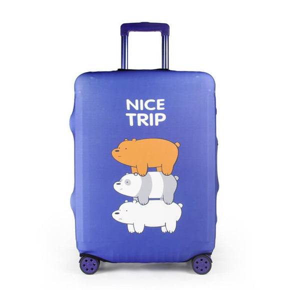 Nice Trip We Bare Bears Purple | Standard Design | Luggage Suitcase Protective Cover - Small - Luggage Cover Encompass RL