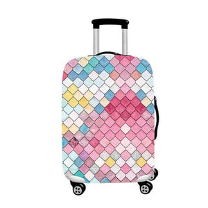 Pastel Scales | Standard Design | Luggage Suitcase Protective Cover - Small - Luggage Cover Encompass RL