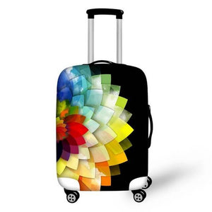 Colorful Flower | Premium Design | Luggage Suitcase Protective Cover - Small - Luggage Cover Encompass RL