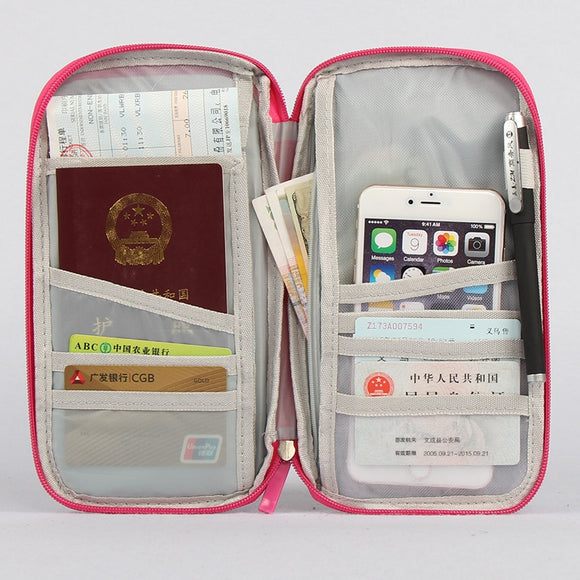 Waterproof Travel Document Organizer | Passport Wallet Holder Case Bag for Men & Women - - Travel Essentials Encompass RL