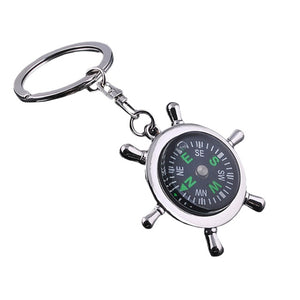 Vintage Compass Keychains - - Wanderlust Gifts Encompass RL