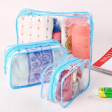 Transparent Cosmetic Bag - Blue - Travel Bags Encompass RL