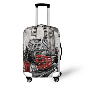 London City | Premium Design | Luggage Suitcase Protective Cover - Small - Luggage Cover Encompass RL