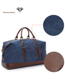 Canvas and Leather Weekend Tote Bag - - Travel Bags Encompass RL