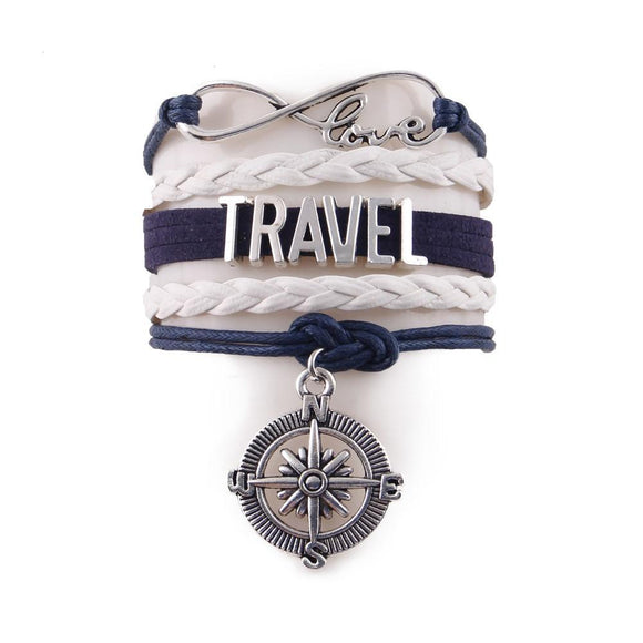 Love Travel Compass Bracelet