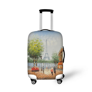 Paris 7 | Premium Design | Luggage Suitcase Protective Cover - Small - Luggage Cover Encompass RL