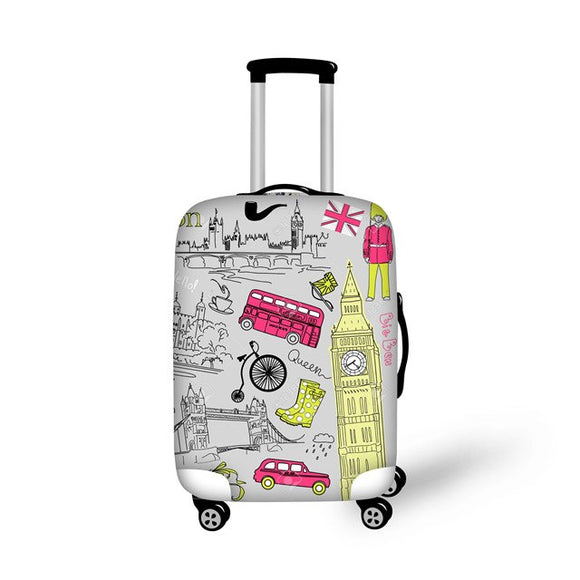 London Prints | Premium Design | Luggage Suitcase Protective Cover - Small - Luggage Cover Encompass RL