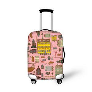 Travel Prints | Premium Design | Luggage Suitcase Protective Cover - Small - Luggage Cover Encompass RL
