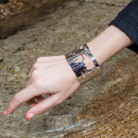 World Map Cut-out Cuff Bracelet - - Wanderlust Gifts Encompass RL