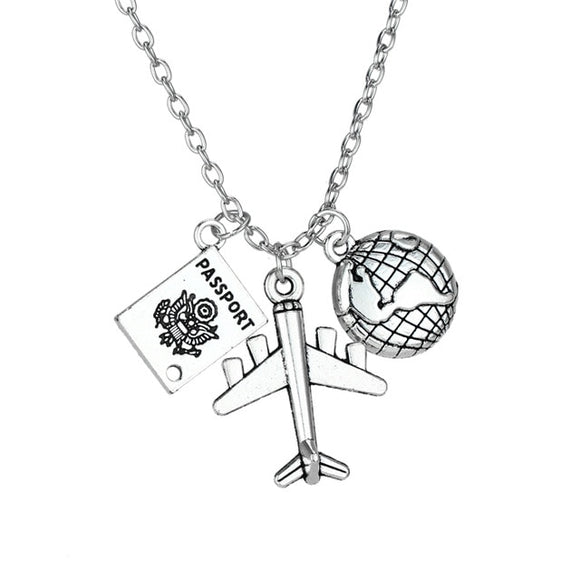 Travel Jewelry Gifts: Wanderlust BFF Necklace, Bracelets &, Keychain Travel Charms - Passport Necklace - Wanderlust Gifts Encompass RL