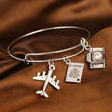 Travel Jewelry Gifts: Wanderlust BFF Necklace, Bracelets &, Keychain Travel Charms - - Wanderlust Gifts Encompass RL