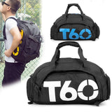 Multifunctional Fitness Travel Bag/Backpack with Shoe Compartment - - Travel Bags Encompass RL