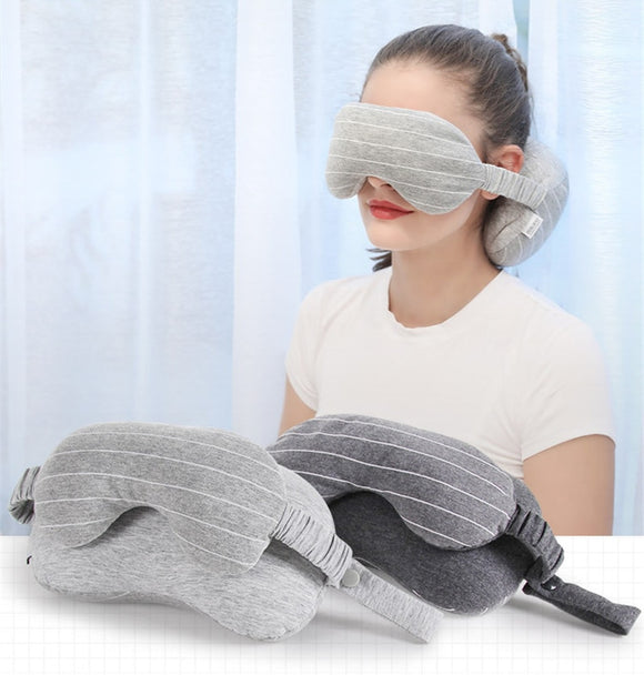 2 in 1 Eye Mask & Neck Support Travel Pillow - - Travel Essentials Encompass RL