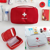 Portable First Aid Bag | Medicine Storage Travel Case - Red - Travel Bags Encompass RL