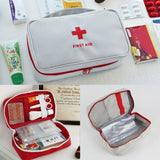 Portable First Aid Bag | Medicine Storage Travel Case - Gray - Travel Bags Encompass RL