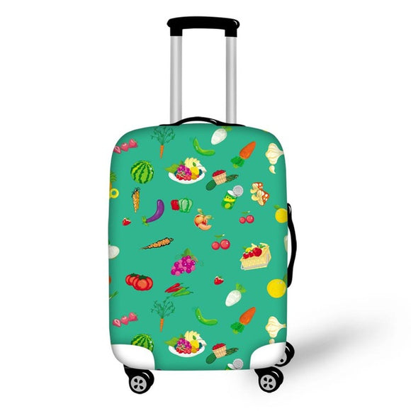 Food Prints | Premium Design | Luggage Suitcase Protective Cover - Small - Luggage Cover Encompass RL