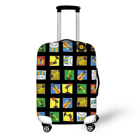 Musical Instruments | Premium Design | Luggage Suitcase Protective Cover - Small - Luggage Cover Encompass RL