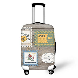 Landmark Printed Stamps #10 | Premium Design | Luggage Suitcase Protective Cover - Small - Luggage Cover Encompass RL