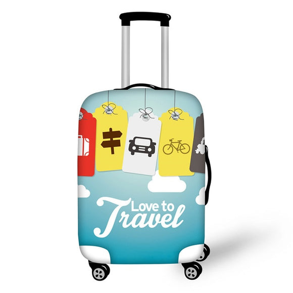 Love to Travel | Premium Design | Luggage Suitcase Protective Cover - Small - Luggage Cover Encompass RL
