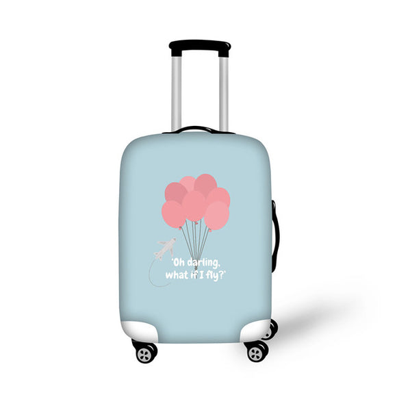 Anniepwanderlust Oh darling What if I Fly | Premium Design | Luggage Suitcase Protective Cover - Small - Encompass RL