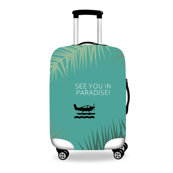 Anniepwanderlust See Your in Paradise | Premium Design | Luggage Suitcase Protective Cover - Small - Encompass RL