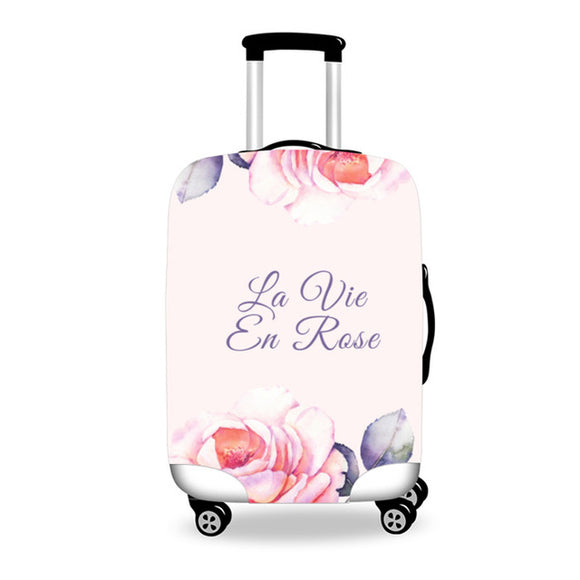 Anniepwanderlust La Vie en Rose | Premium Design | Luggage Suitcase Protective Cover - Small - Encompass RL