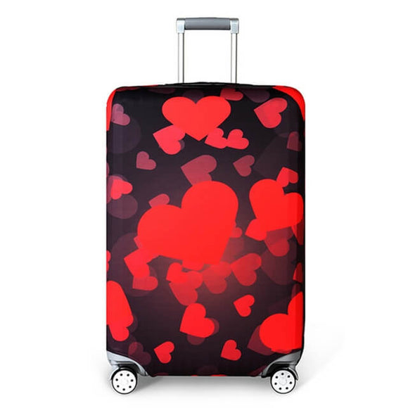 Red Hearts | Standard Design | Luggage Suitcase Protective Cover - Small - Luggage Cover Encompass RL