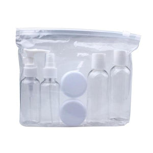 6 piece transparent travel bottles - - Travel Essentials Encompass RL