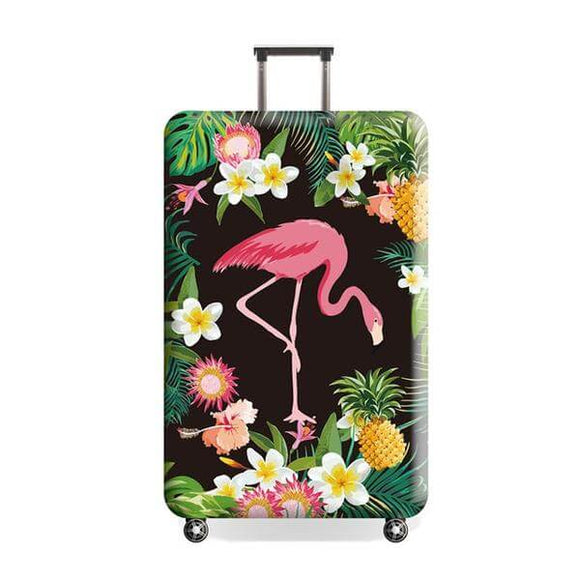 Tropical Flamingo | Premium Design | Luggage Suitcase Protective Cover - Small - Luggage Cover Encompass RL