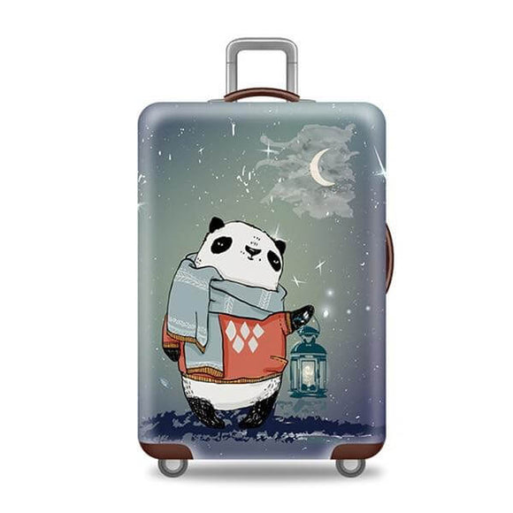Winter Panda | Standard Design | Luggage Suitcase Protective Cover - Small - Luggage Cover Encompass RL