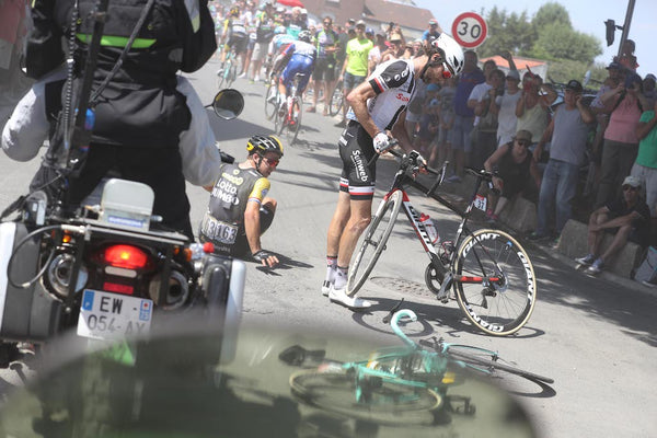 In amongst the crashes – Luke Evans' Tour de France moto blog