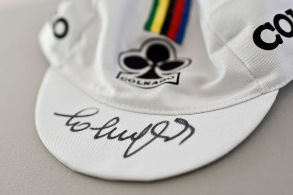 Cycling Hall of Fame Competition: Win a cycling cap signed by Ernesto Colnago
