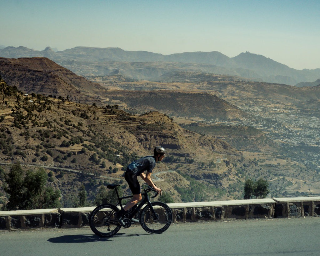 High altittude ethiopia cyclist