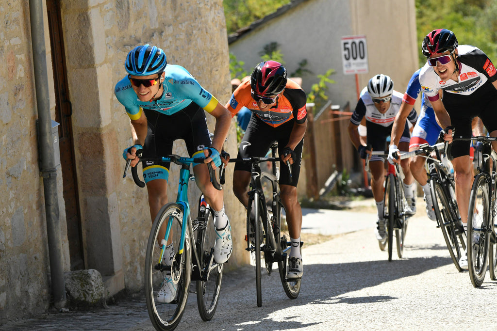 Alex Vlasov racing at the Route d'Occitanie