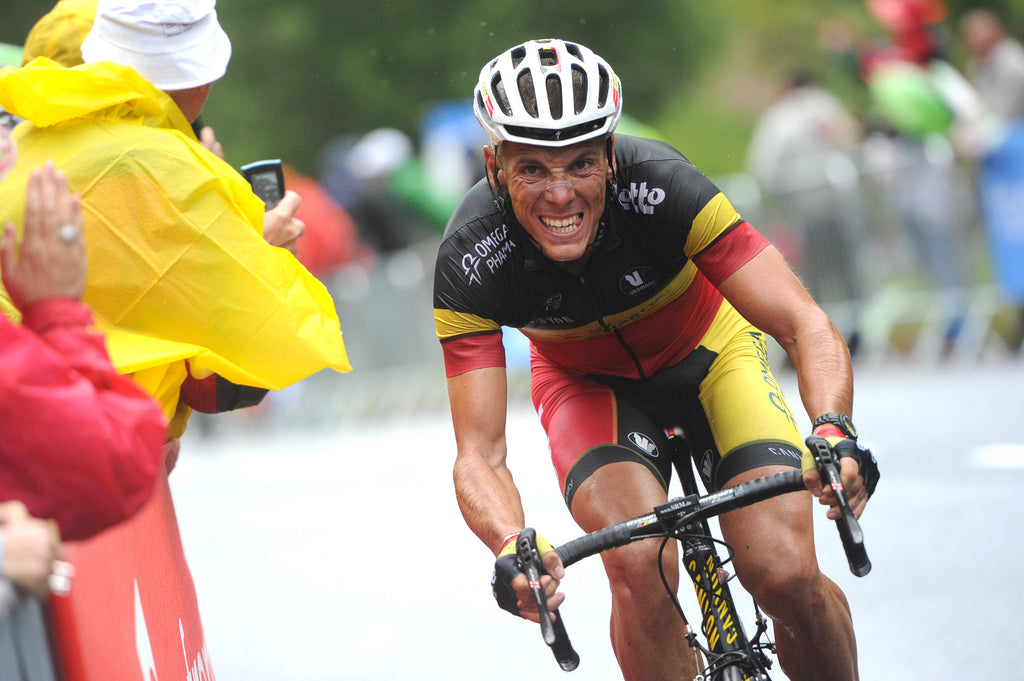 Philippe Gilbert attacking