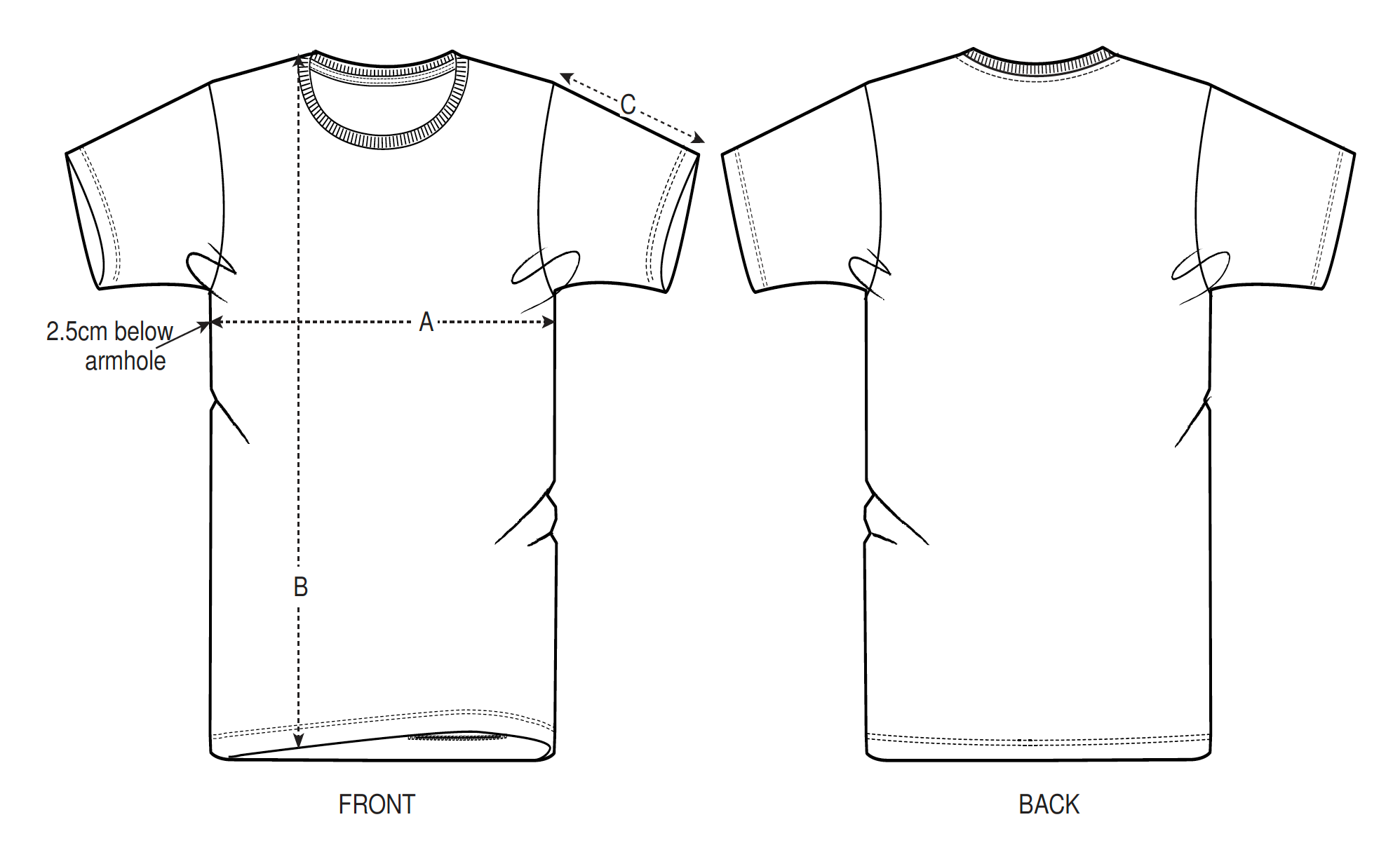 Rouleur Tee Size Guide