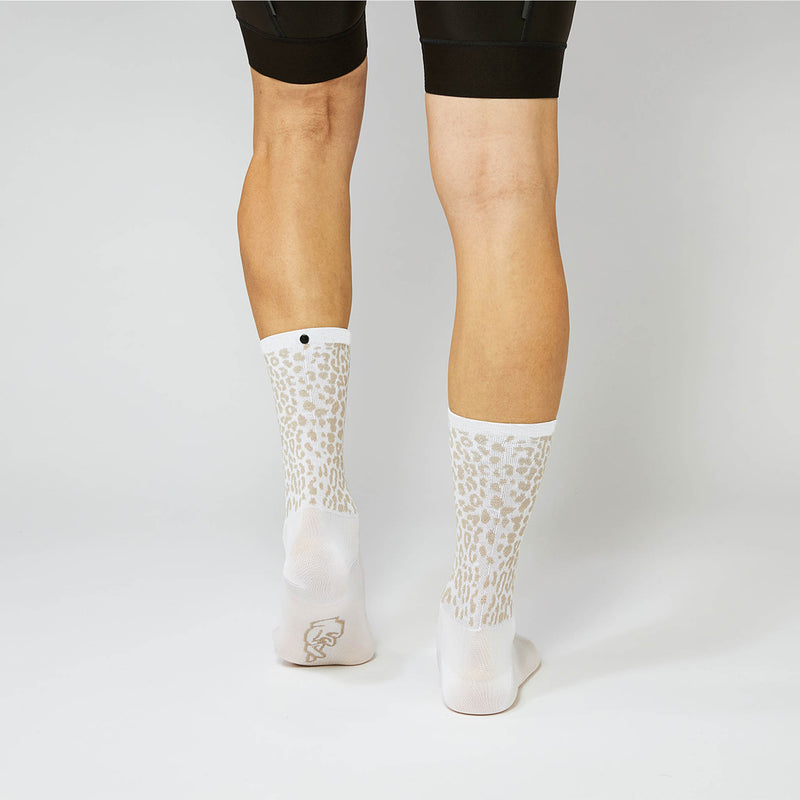 Fingerscrossed Socks - Giraffe - White/Sand