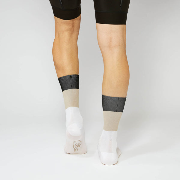 Fingerscrossed Socks - Block - Sand/Black/White