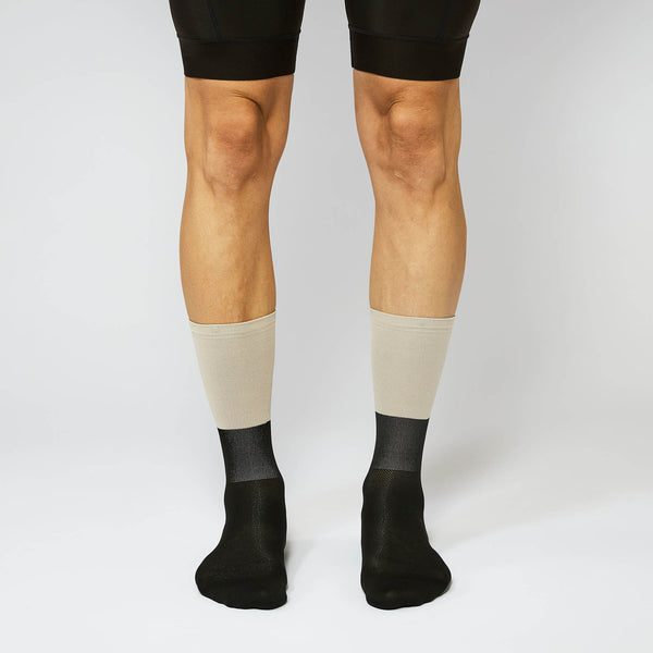 Fingerscrossed Socks - Block - Sand/Black